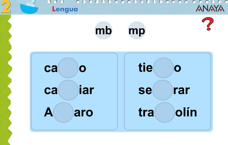 Mi blog de lengua divertida para 1 de primaria for Mp mb scuola primaria