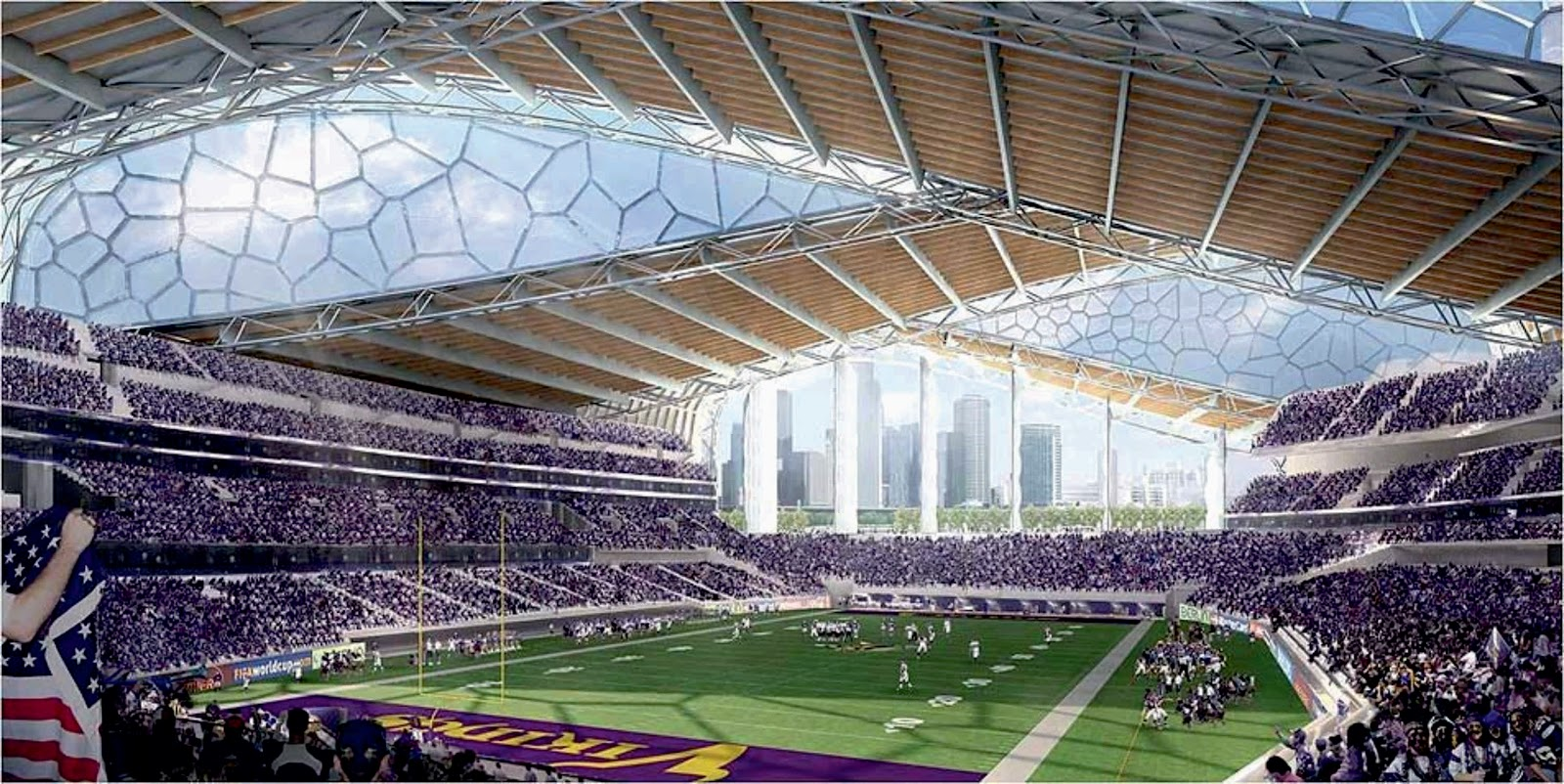 Vikings Stadium By Hks Inc A As Architecture