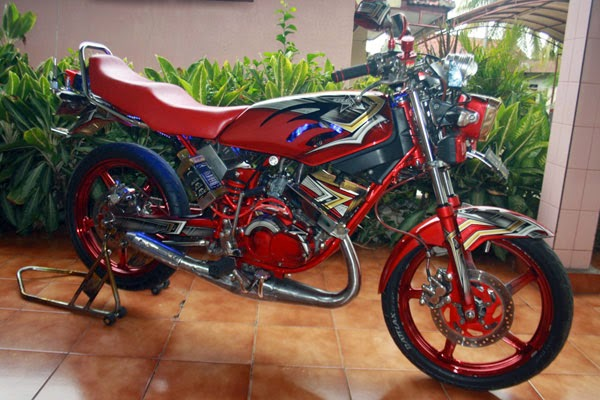 Gambar Yamaha RX-King Modifikasi Merah Nyentrik Terbaru 2014