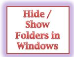 Hide or show folder in windows 7 8