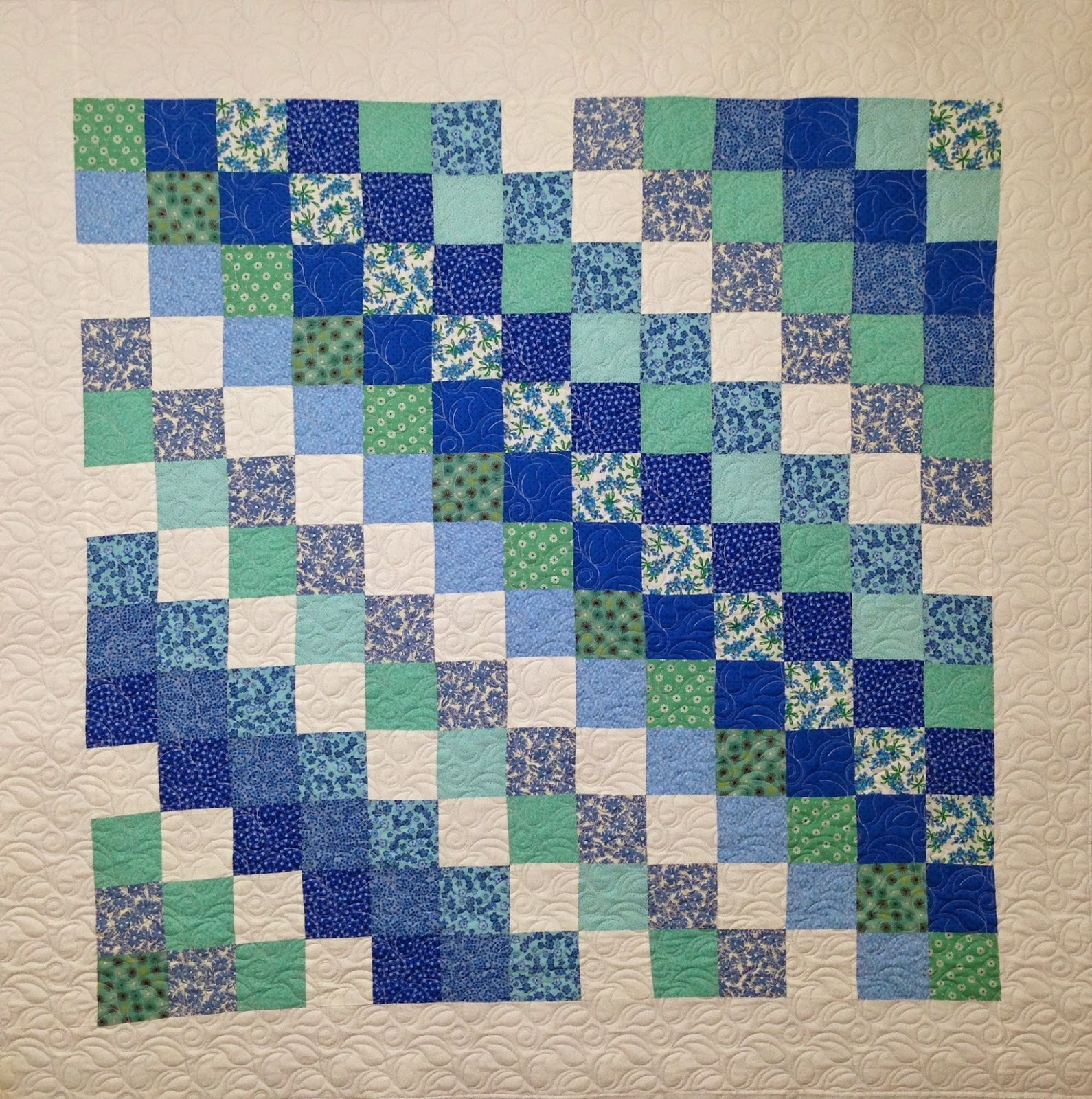 Suzanne Oldham Squares on a Diagonal Quilt