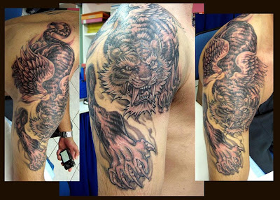 Tiger Shoulder Tattoo Designs