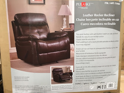Pulaski Leather Rocker Recliner: comfortable and practical