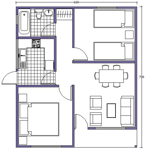 Planos arquitectonicos for Medidas de muebles en planta