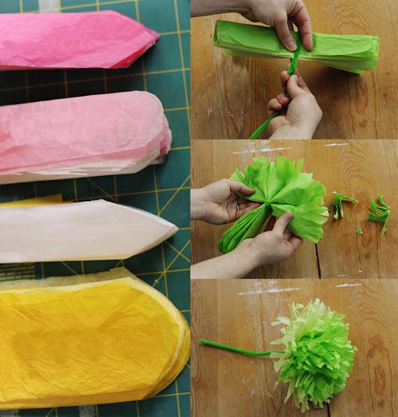 Como fazer flores lindas de papel