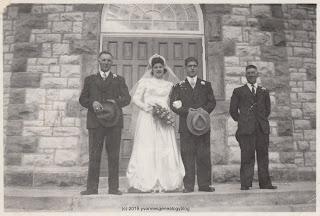 Ovila Gauthier and Cecile Meunier wedding 1948