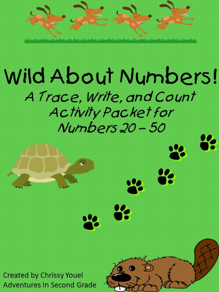 http://www.teacherspayteachers.com/Product/Wild-About-Numbers-A-Trace-Write-and-Count-Activity-Packet-for-Numbers-20-50-1055777