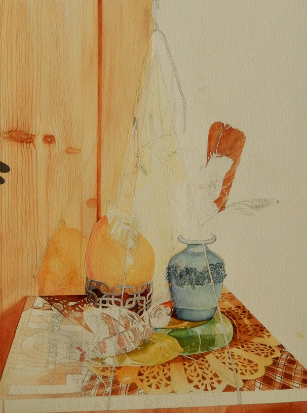 Watercolor of Golden Pear Continued - Watercolor Mania