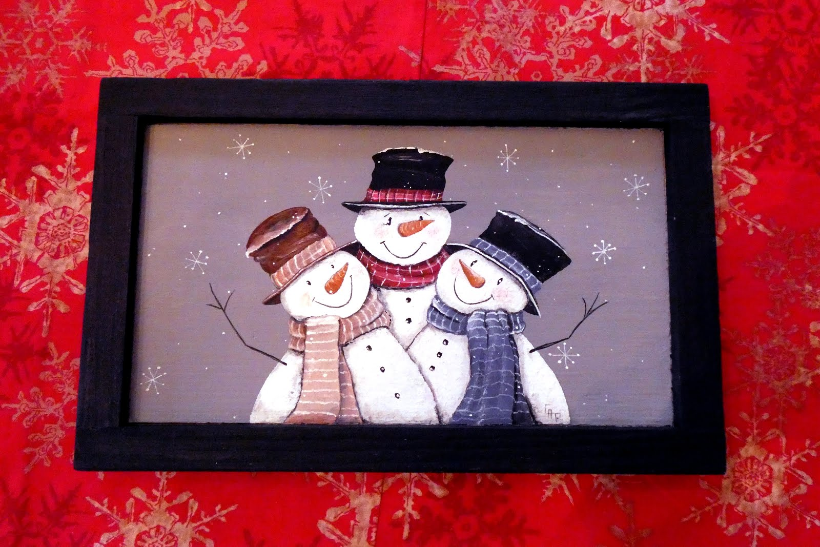 Painted Snowman Trio