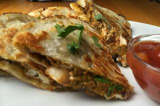 Pumpkin Pesto Quesadillas