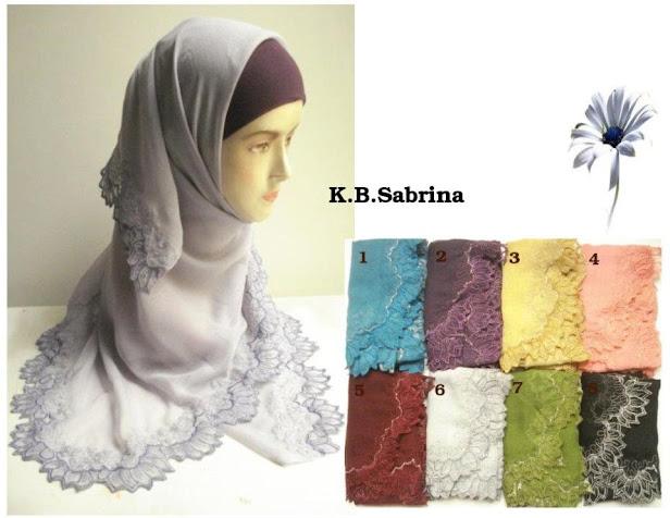 PRE-ORDER : TUDUNG SULAM BUNGA SABRINA- RM 55 each