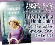 "Win a Nook Color from Shannon Dittemore (@ShanDitty)! ""Angel Eyes"" Giveaway and Facebook Party {6/2"