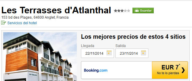 Hotel Anglet Les Terrasses d'Atlanthal