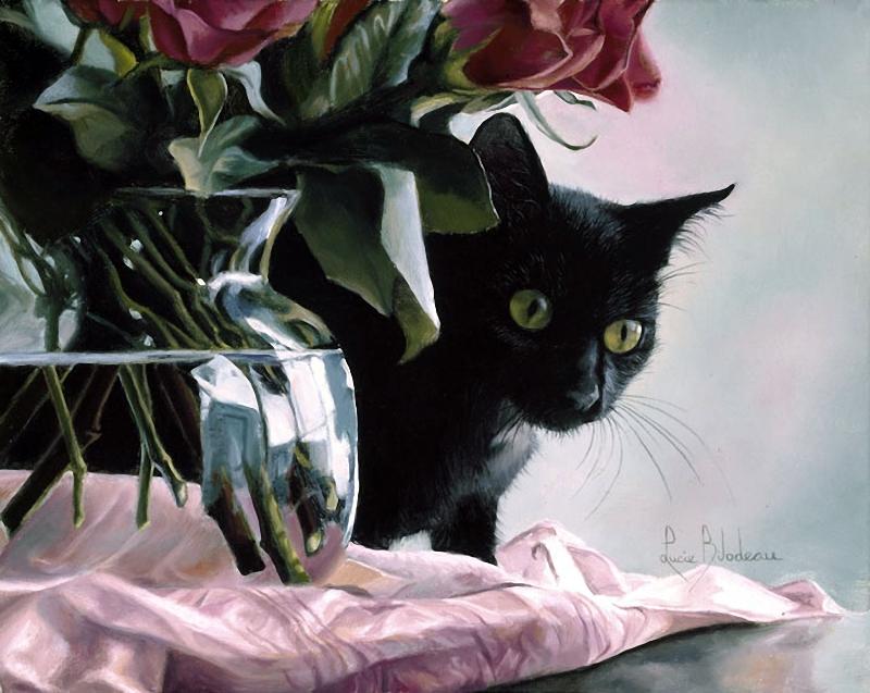 Котята картинки в цветах