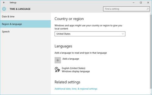tiếng Việt cho Windows 10