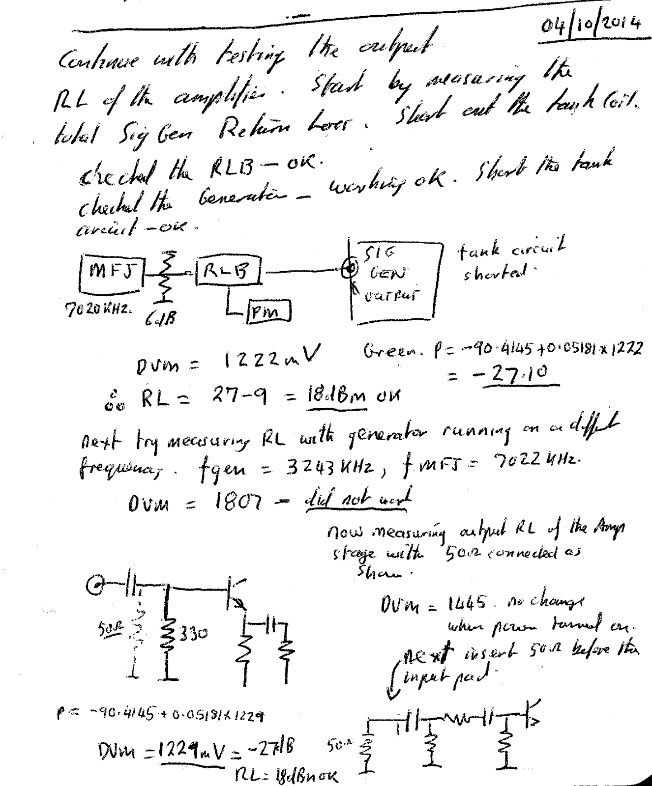 N4hay Zs6rsh Rf Signal Source Amplifier Stage 1 Buffer Perhaps There Is An Error In The Procedure Used To Measure Rl Of Isolation
