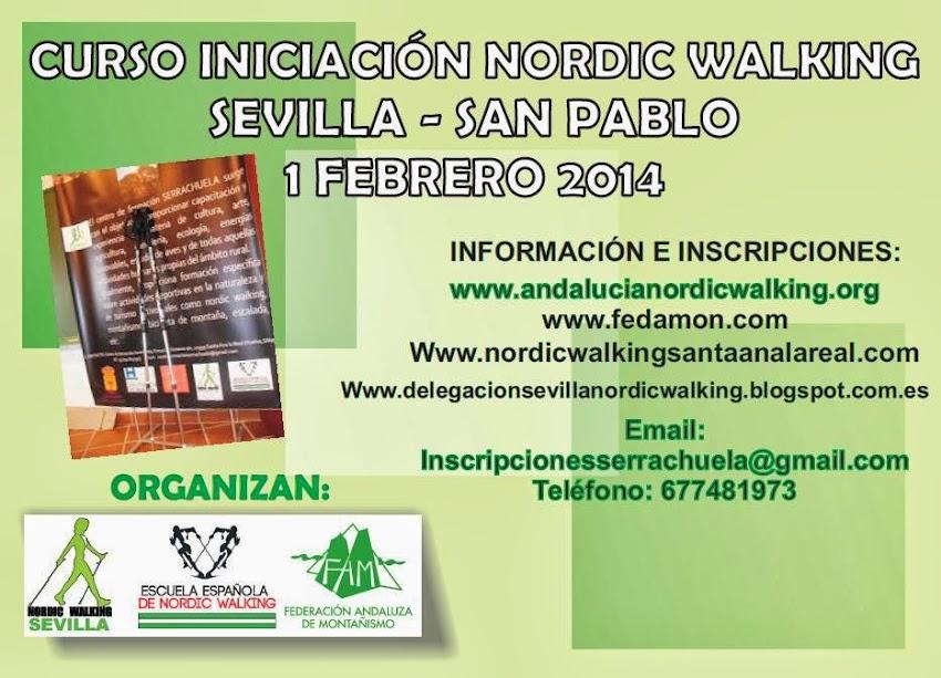 CURSO INICIACIÓN AL NORDIC WALKING - SEVILLA 01/02/2014