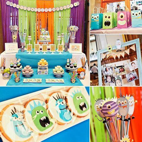tema festa menino infantil aniversário monsters