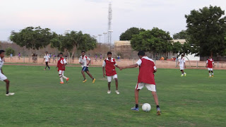 RDT Anantapur Sports Academy Juniors practice with seniors