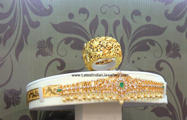 Nakshi Kada Uncut Diamond Vaddanam