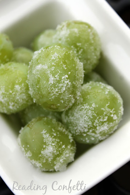 Sugared grape recipe with no egg whites so it's safe for kids
