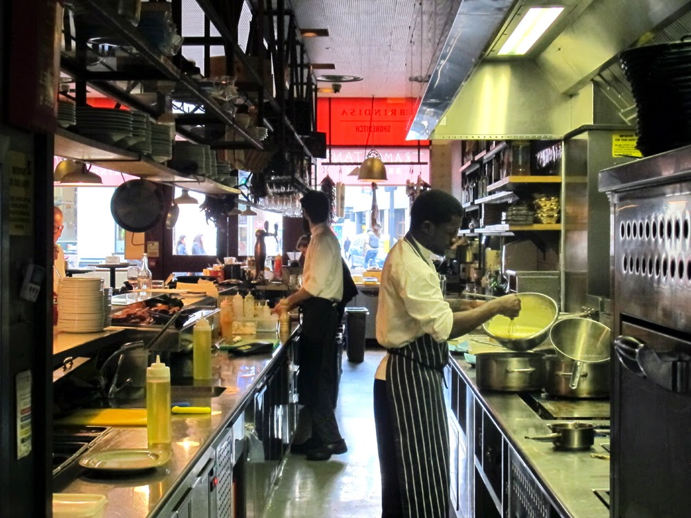 Tramontana kitchen in Shoreditch, London