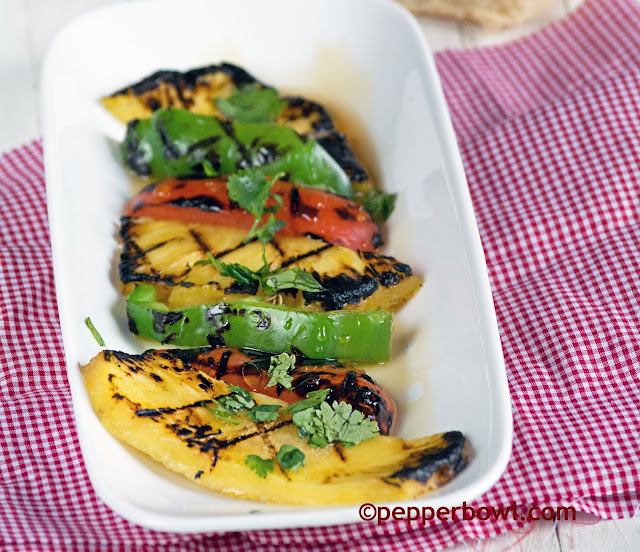 Grilled-pineapple-Veggies-Salad