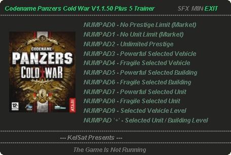 как установить коды в одиночной игре codename panzer cold war