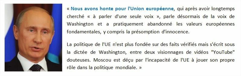 """La guerre (économique) va commencer avec la Russie. Moscou : """"Nous avons honte pour l'Union européenne"""" Ue-poutine"""
