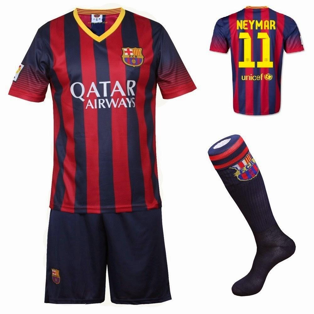 Image result for FC Barcelona neymar jersey set