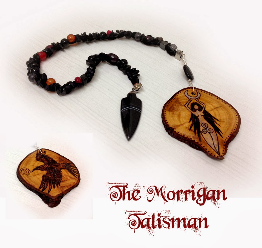 The Morrigan Goddess Talisman from MoonsCrafts