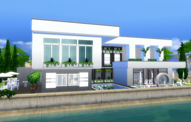 Download casas lotes pornpanya modern para the sims 4 for Casas modernas sims 4 paso a paso