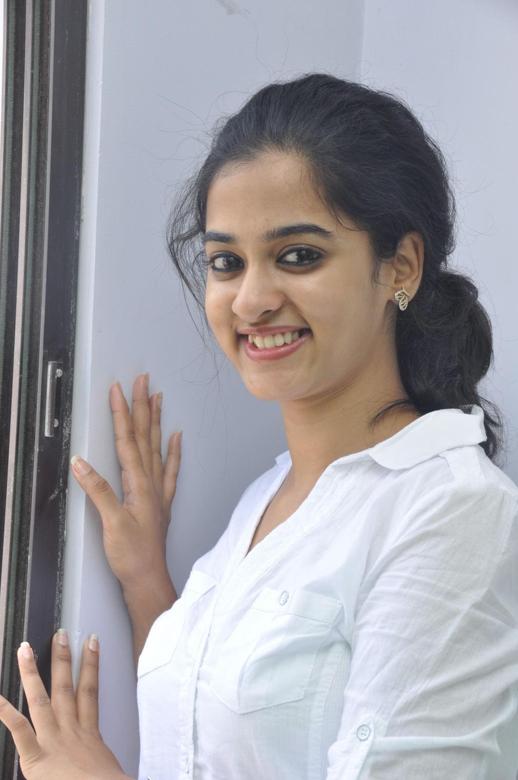 Cute sweet Nandita latest gorgeous photos in white shirt