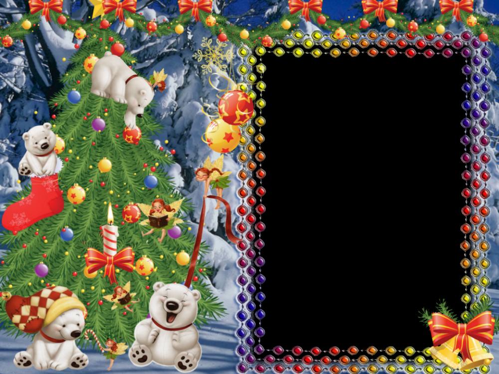 Set de 5 elegantes marcos para fotos de navidad marcos gratis para fotograf as - Hacer tarjeta de navidad con foto ...