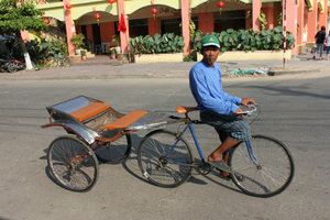 Xe lôi rickshaw in Hà Tiên town