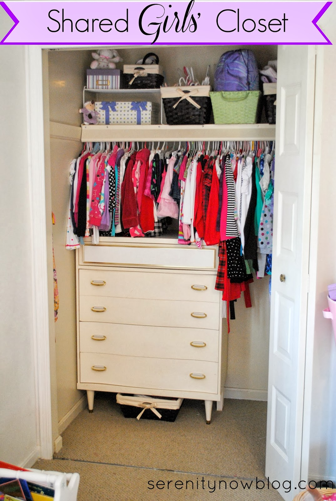 Serenity now organizing a shared girls 39 closet real life for How do you organize your closet