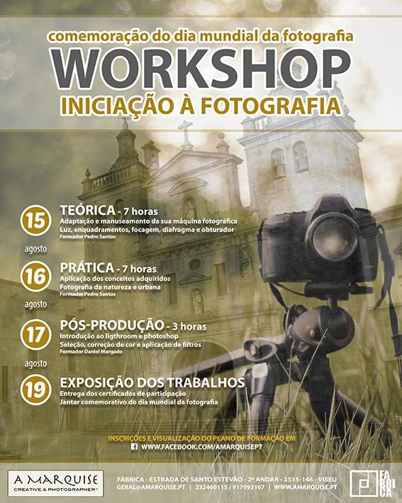 Workshop de iniciação à fotografia em Viseu