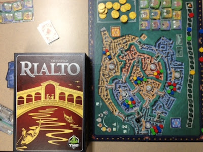 Rialto board game in play
