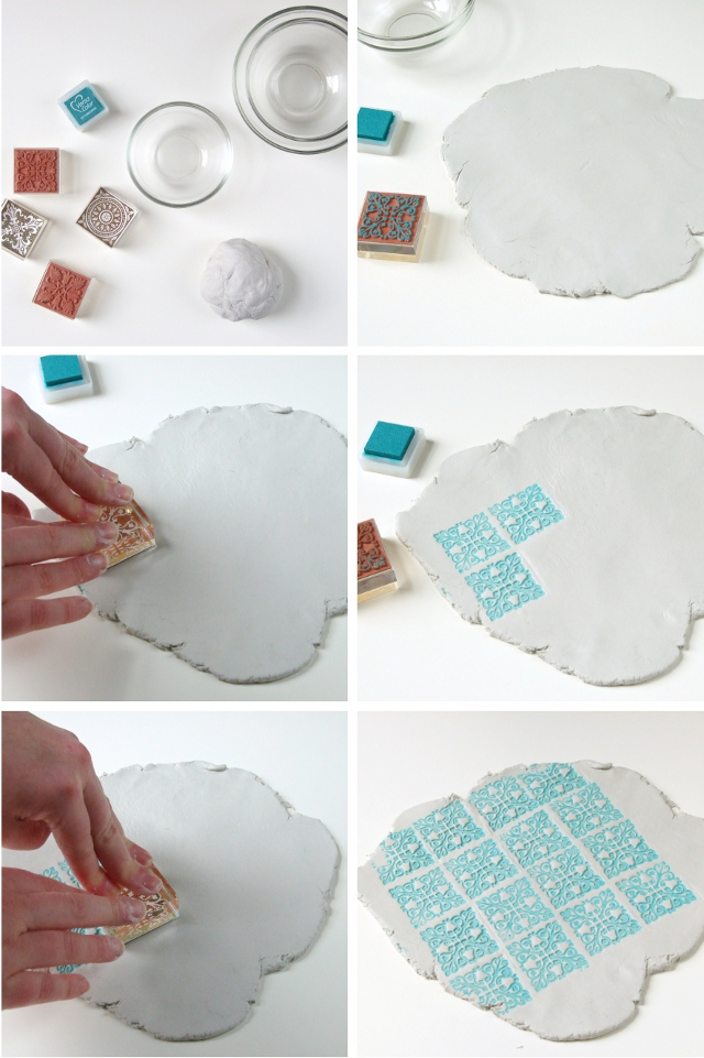 How to make Stamped Clay Bowls using air dry clay