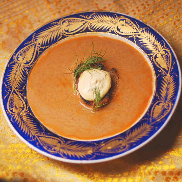 celeriac soup with little brown rice fish cakes provencal fish soup ...
