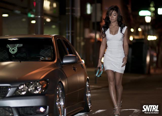 Lexus IS XE10, prestiżowe samochody, luksusowe auta, stance, gleba, dziewczyny i samochody, zdjęcia w nocy, tuning