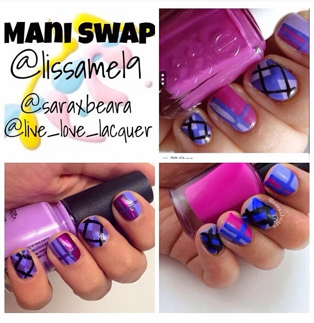 Triplet Manicure Swap @lissamel9 @saraxbeara @live_love_lacquer