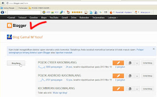 Masuk ke situs Blogger.com