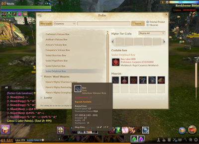 ArcheAge - Sealed Delphinad Bow Requirements