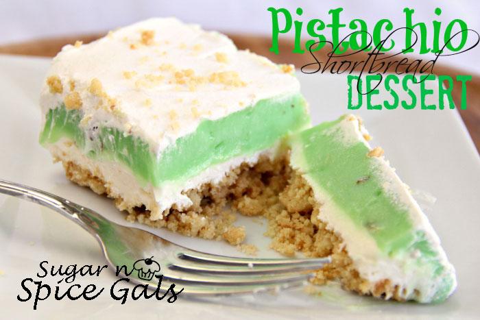 Pistachio Shortbread Dessert - Sugar n' Spice Gals