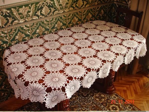 şemalı masa danteli