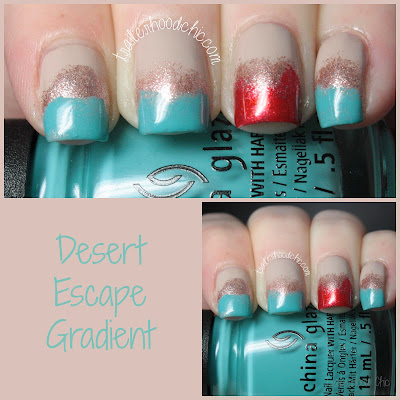 china glaze desert escape gradient nail art