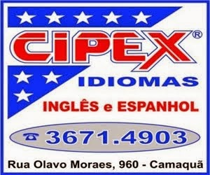 Cipex Idiomas - Camaquã/RS (clique na imagem e acesse nossa página no Facebook)