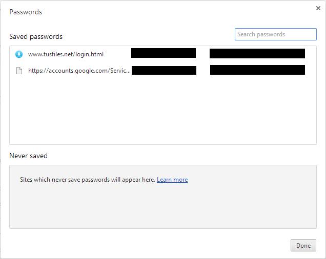 Lihat Password Pada Browser