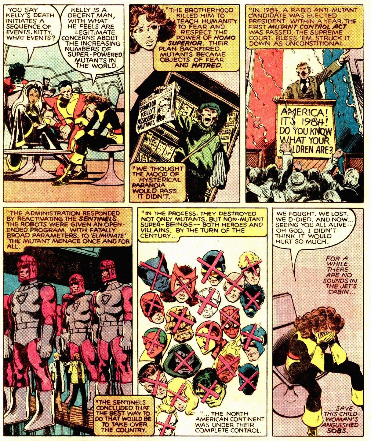 Cyclops Days Of Future Past Comic